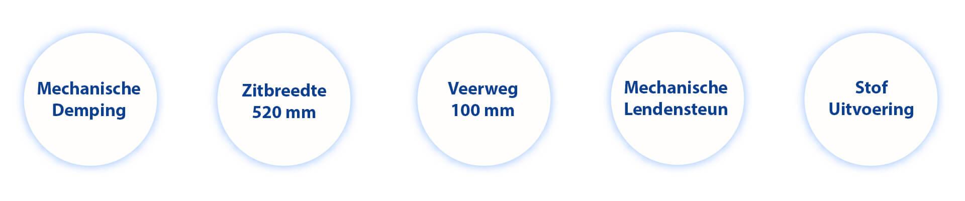 Informatie Trekkerstoel MAXIMO Comfort stof Agri 1288539